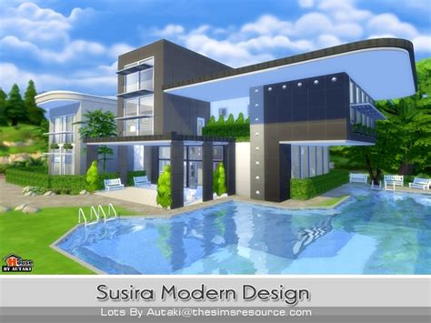 home design for sims 4 susira modern design by autaki at tsr 187 sims 4 updates