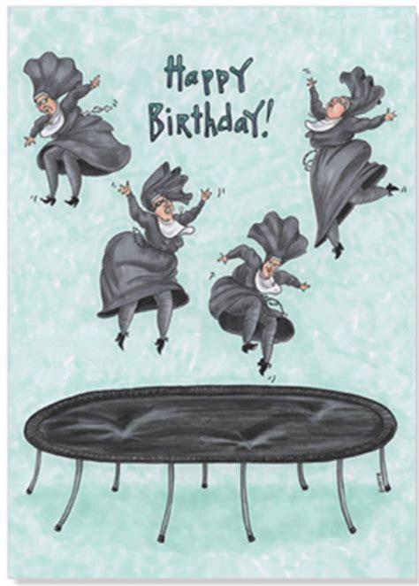 jumping  trampolene funny birthday card  oatmeal studios