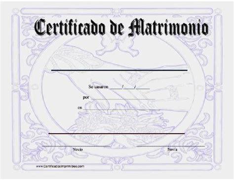 certificado de matrimonio para kermes certificado de matrimonio para imprimir los certificados
