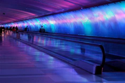 detroit airport light tunnel file lighttunneldetroit jpg