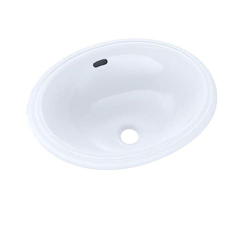 toto undermount bathroom sink toto 15 in oval undermount bathroom sink in cotton white
