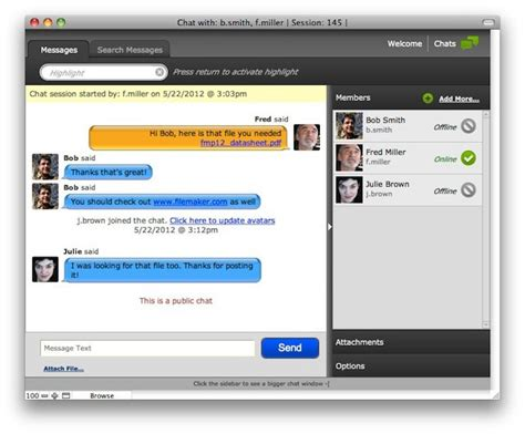 filemaker go templates seedcode helps you build secure and chat into
