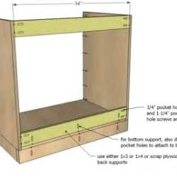 diy projects frame base kitchen cabinet carcass