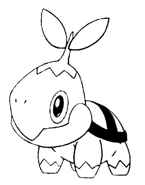 coloring pages pokemon turtwig drawings pokemon