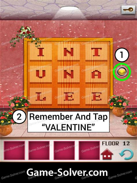 100 Floors Level 12 by 100 Floors Seasons Tower Valentines Level 12 Solver