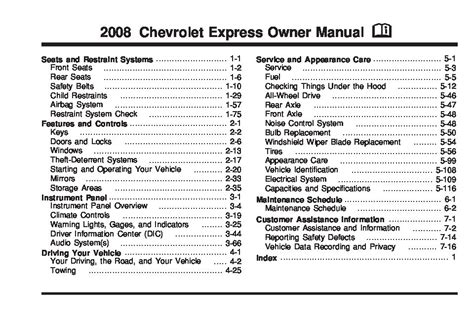 chevrolet express owners manual 2008 2010 download 2008 chevrolet express owners manual just give me the damn manual