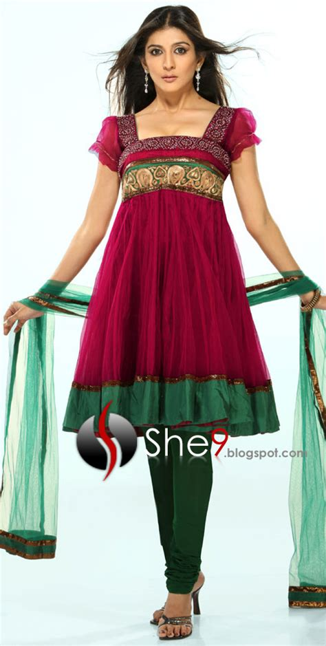 half froks pic fancy frocks 2010 2011 collection indian dresses she9