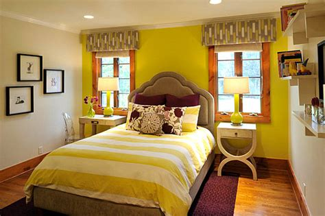 Yellow Green Bedroom Design Shades Of Yellow For A Golden Interior