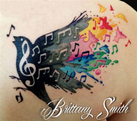 music note bird tattoo note bird watercolor boy post falls