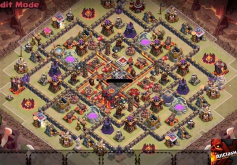 layout for th10 clan war base design for winner in 2015 with 2 air sweeper