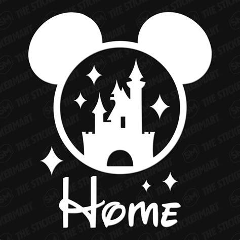 Jcb Wall Stickers disney cinderella s castle mickey ears home 4 quot x3 5 quot vinyl