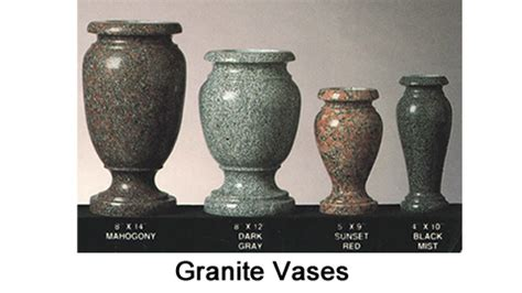 Granite Vases For by Single Monuments Tegeler Monument Company