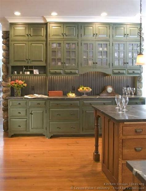 Green Cabinets In Kitchen Green Cabinets If You Choose The Country Look The Bead Board Is A Great Backsplash Probably A