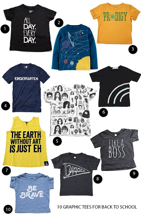 8 Graphic Tees For For Back To School by Clever 10 Graphic Tees For Back To School