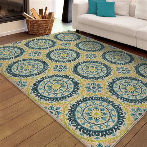 large indoor area rugs orian rugs indoor outdoor medallion hamilton multi area large rug 2356 8x11 orian rugs