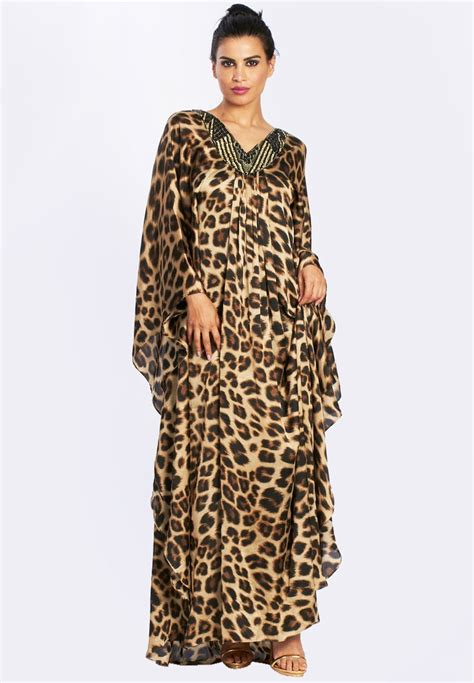 Gamis Abaya Maxi Leopard Bergo silk satin leopard jalabiya traditional wardrobe for leopards and s