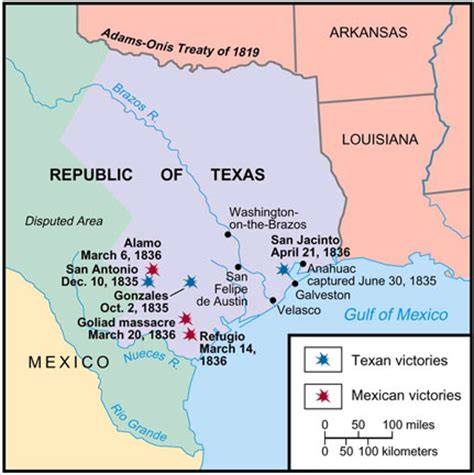 texas revolution map texas revolution maps