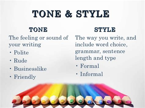 business letter writing language and tone business writing content tone style