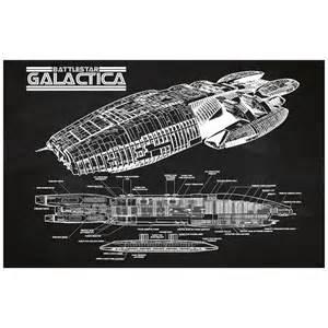 Star Wars Home Decor battlestar galactica cutaway wall art sci fi design