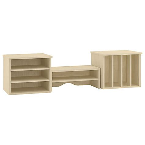 Desk Top Organizer Hutch Kathy Ireland Office By Bush Volcano Dusk 48 Organizer Hutch Driftwood Dreams By Office Depot