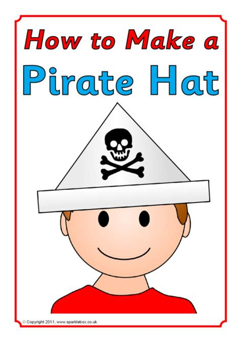 How To Make A Paper Pirate Hat - how to make a pirate hat sb4195 sparklebox