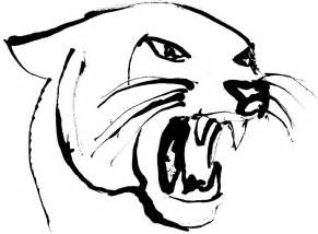 panther face drawing