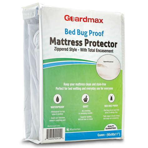 mattress protector bed bug waterproof tight zipper closure bedding quiet cover ebay
