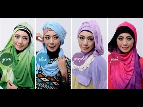 youtube tutorial pashmina tutorial hijab pashmina cantik 4 warna model terbaru l