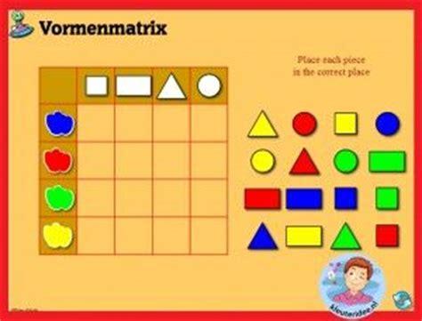 pattern games iwb vormenmatrix sorteren met kleuters op digibord of computer