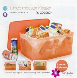 Tupperware Ukuran Jumbo jumbo modular keeper tupperware indonesia