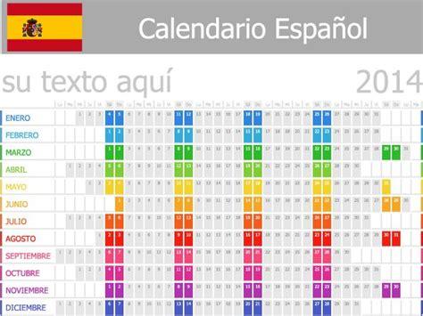 calendario 2014 en espanol calendario espa 241 ol 2014 vector calendarios en espa 241 ol