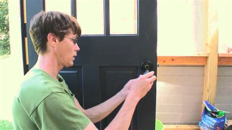 How To Install Exterior Door Knob by How To Install An Exterior Door Knob