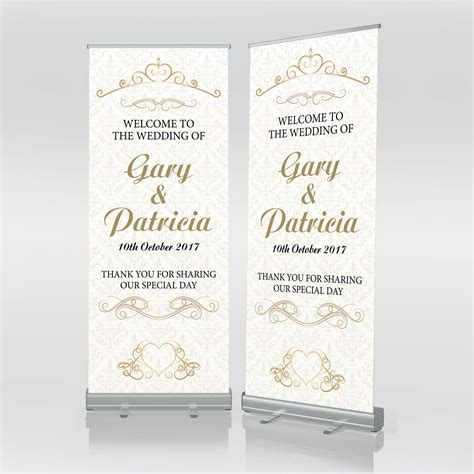 Wedding Banner With Stand by Free Postage Custom Wedding Banner Wedding Roller Banner
