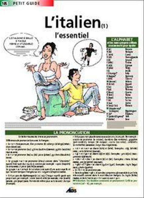 libro les petits livres litalien livre l italien l essentiel d 233 pliant leandri ronchese catherine aedis petit guide
