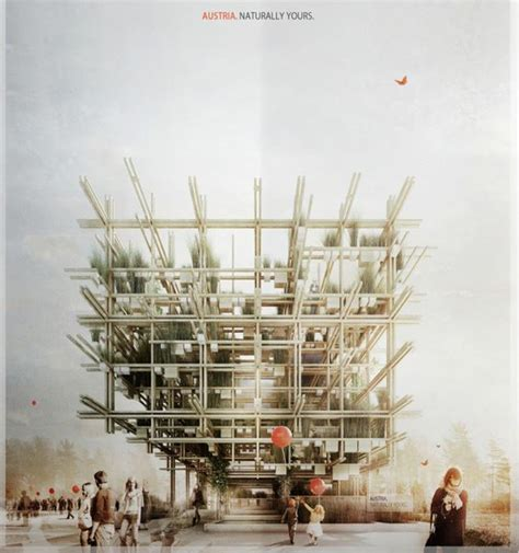grid pattern in architecture austrian pavilion for milan expo 2015 is a novel organic