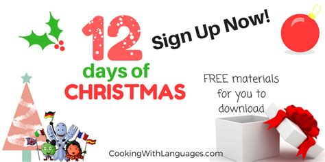 12 Days Of Christmas Giveaways - 12 days of christmas spanish and english giveaways