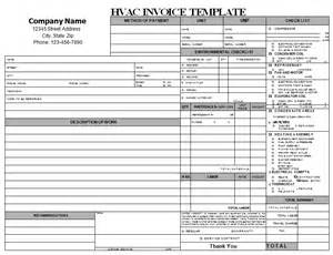Air Conditioning Invoice Template by 18 Free Hvac Invoice Templates Demplates