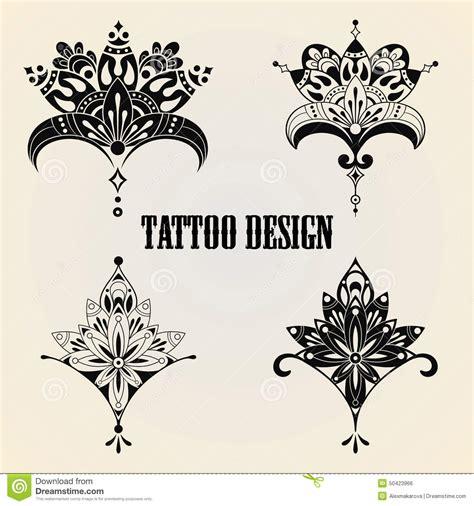 design elements tattoo tattoo design elements stock vector image 50423966