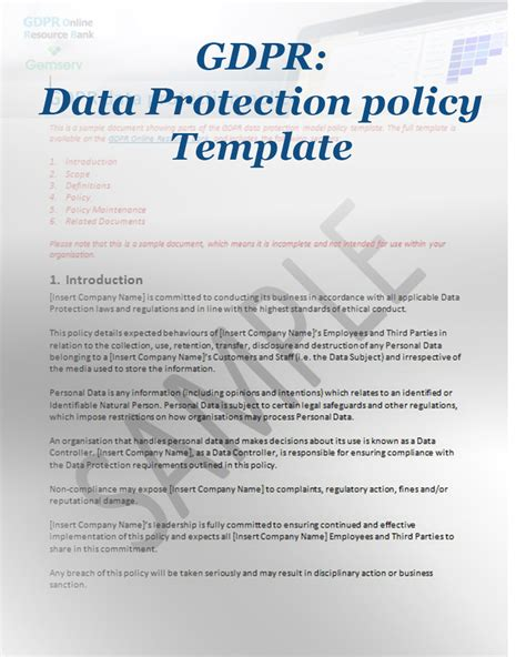 Gdpr Compliance Archives Forum Training Professional Development Gdpr Privacy Policy Template Free