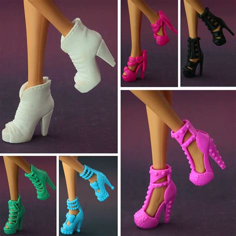 new design doll shoes 2017 new original fashion high heeled shoes for barbie