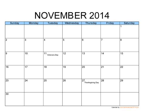 printable month calendar november 2014 november 2014 calendar on pinterest templates calendar
