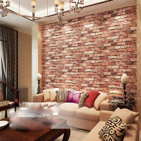 Design Brick Wallpaper Ideas Home Textured Brick Wallpaper With High Quality Material And