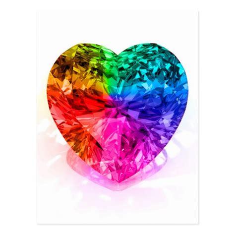rainbow gem postcard zazzle