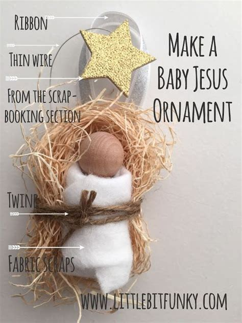 religious christmas crafts to make 20 minute crafter make an adorable baby jesus ornament baby jesus