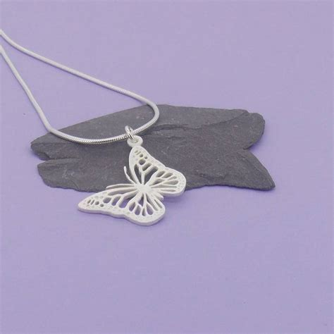 silver butterfly pendant by summer and silver