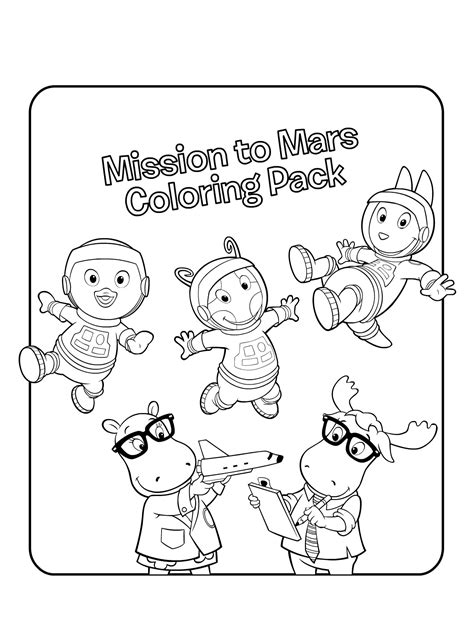 Nick Jr Backyardigans Coloring Pages | backyardigans nick jr coloring pages