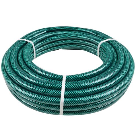 Garden Hose Green Jem 15m Length Braided Green Garden Hose Pipe 13mm