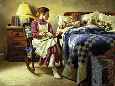 Bed Time Story by Jim Daly Lewis Galleries Sourcing Your Needs For