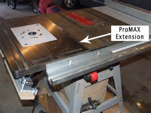 promax router table installed on delta table saw home
