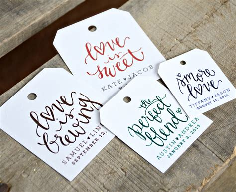 wedding tags 24 pre printed favor tags for wedding favors dinners